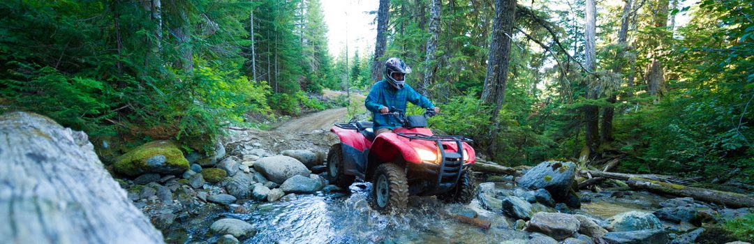 ATV enthusiasts, ride with peace of mind